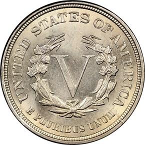 1883 NO CENTS 5C MS reverse
