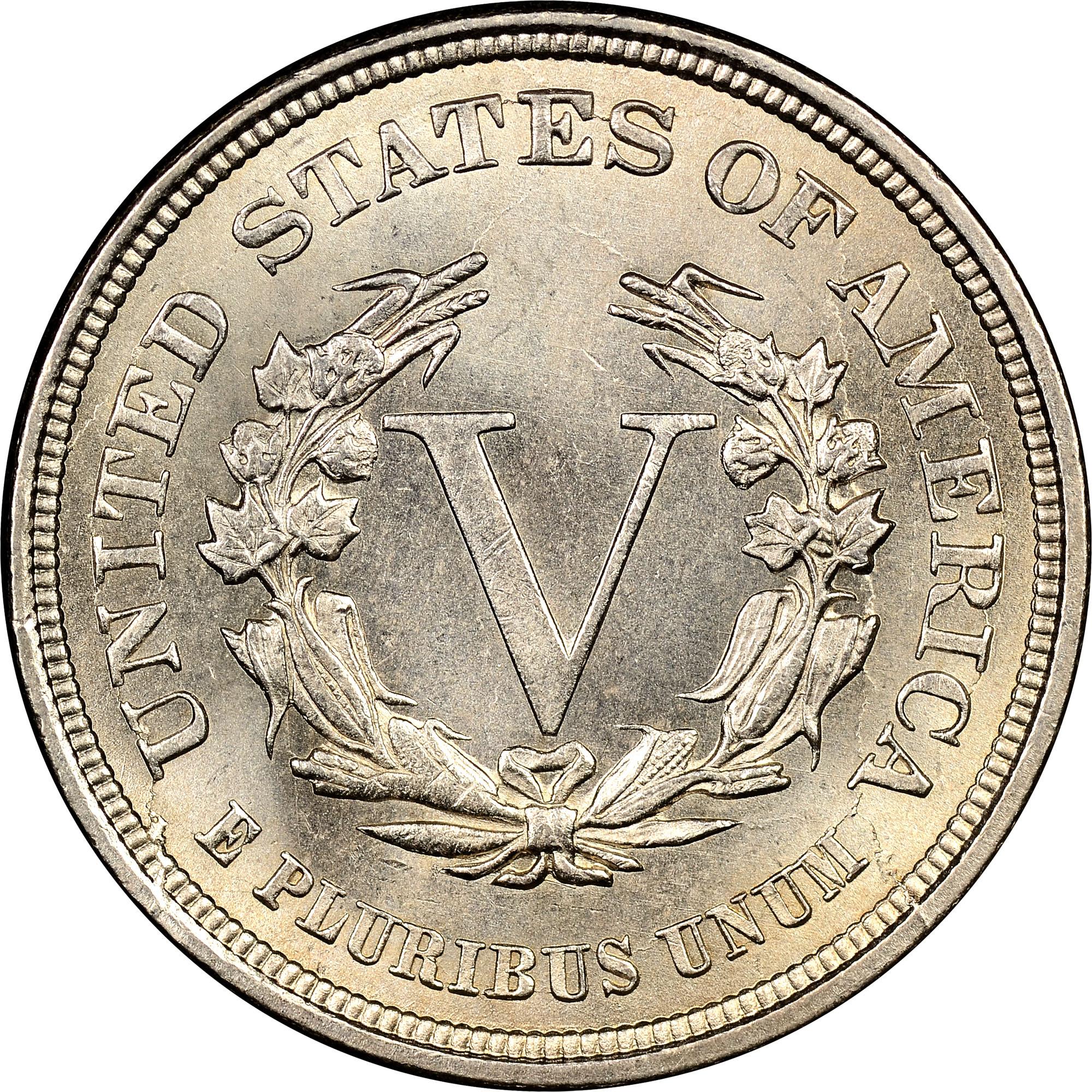 1883 No Cents 5c Ms Liberty Head Five Cents Ngc