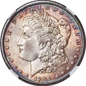 1894 O $1 MS obverse