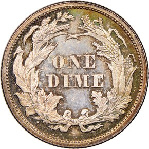 1861 10C PF reverse