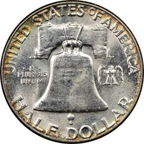 1954 50C MS reverse