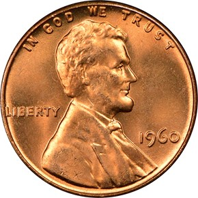 1960 LARGE DATE 1C MS obverse