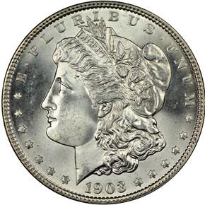 1903 S$1 MS obverse