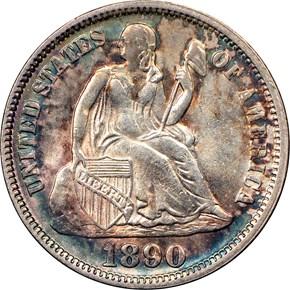 1890 10C MS obverse