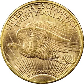 1910 $20 MS reverse