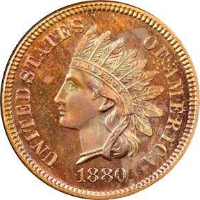 1880 1C PF obverse