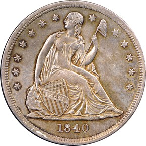 1840 $1 MS obverse