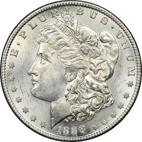 1888 S $1 MS obverse