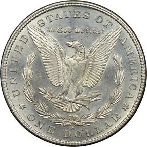 1888 S $1 MS reverse