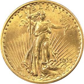 1913 $20 MS obverse