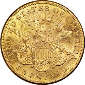 1876 CC $20 MS reverse