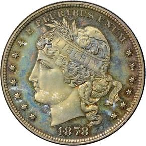 1878 J-1557 S$1 PF obverse