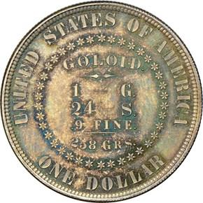 1878 J-1557 S$1 PF reverse