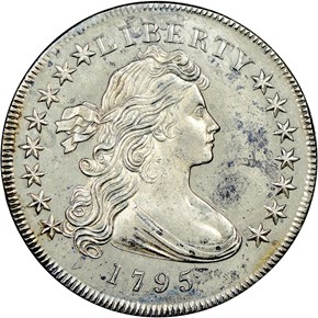 1795 DRAPED BUST $1 SP obverse