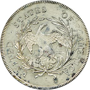 1795 DRAPED BUST $1 SP reverse