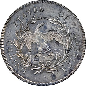 1795 FLOWING HAIR $1 SP reverse