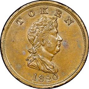 1820 BRASS NORTHWEST COMPANY TOKEN MS obverse