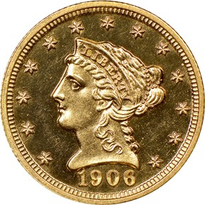 1906 $2.5 PF obverse