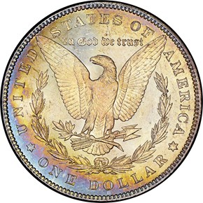 1879 $1 MS reverse