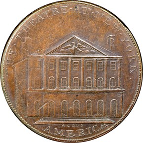 c.1797 THEATRE AT NEW YORK 1P MS reverse