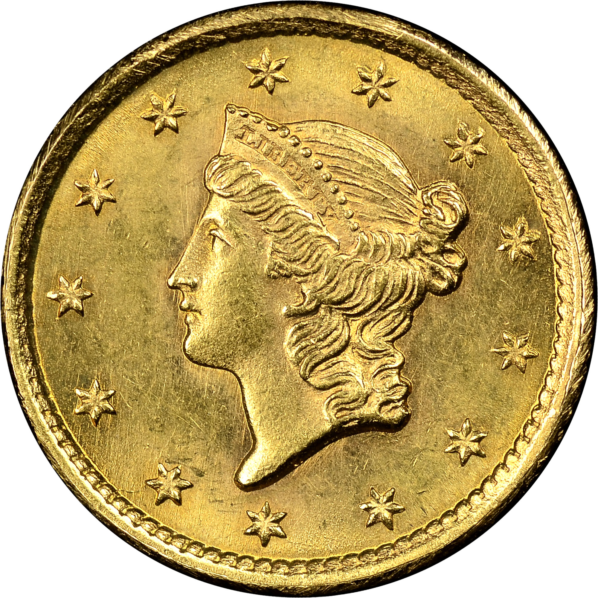 1852 G 1 Ms Gold Dollars Ngc