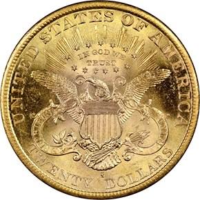 1889 S $20 MS reverse