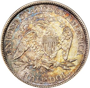 1873 CC ARROWS 50C MS reverse
