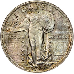 1927 S 25C MS obverse