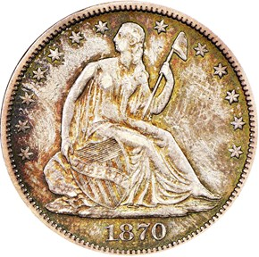 1870 CC 50C MS obverse