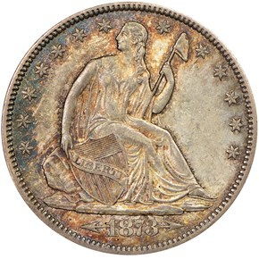 1873 CC ARROWS 50C MS obverse