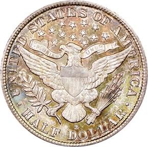 1904 O 50C MS reverse