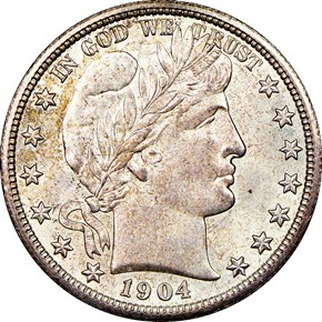 1904 S 50C MS obverse
