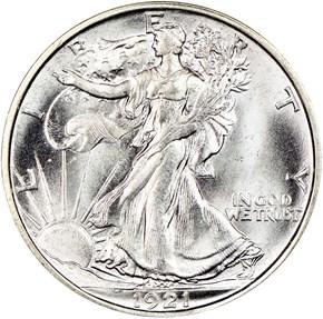 1921 D 50C MS obverse