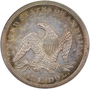 1858 S$1 PF reverse