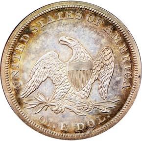 1858 $1 PF reverse
