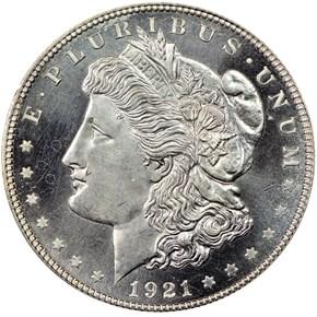 1921 MORGAN ZERBE $1 PF obverse