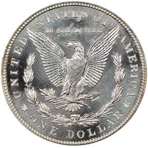 1921 MORGAN ZERBE S$1 PF reverse