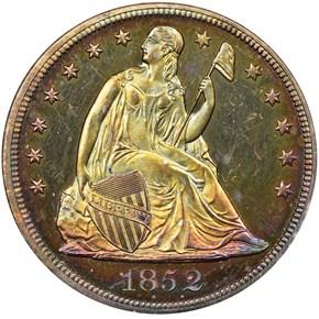 1852 S$1 PF obverse