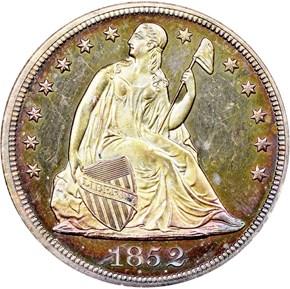 1852 $1 PF obverse