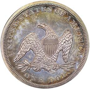 1852 S$1 PF reverse
