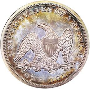 1852 $1 PF reverse