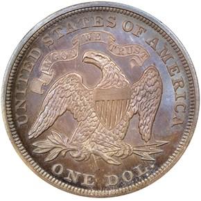 1868 S$1 PF reverse