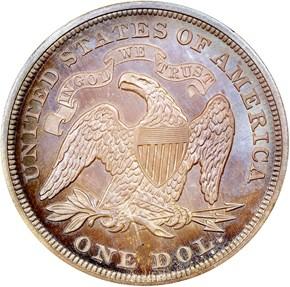 1868 $1 PF reverse