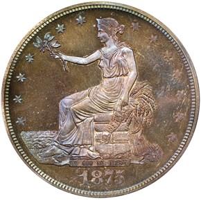 1875 T$1 PF obverse