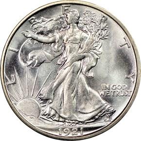 1921 S 50C MS obverse