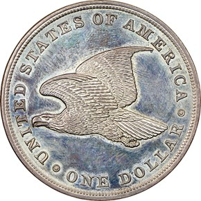1838 SILVER GOBRECHT J-85 $1 PF reverse