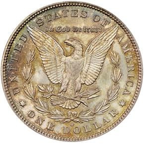 1895 O $1 MS reverse