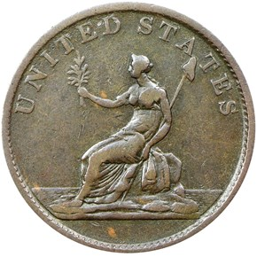1783 NO BUT, DRAPE BUST WASHINGTON & INDEPENDENCE reverse