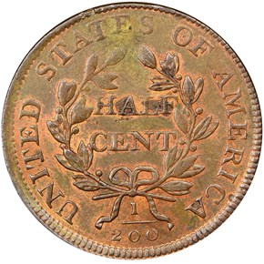 1806 1/2C MS reverse