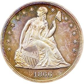 1866 MOTTO $1 PF obverse